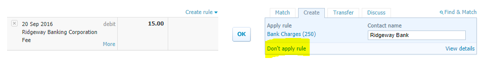 how to set up a bank rule in xero